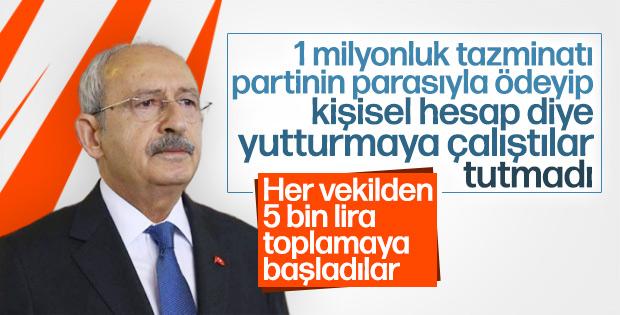 Kılıçdaroğlu tazminatları CHP'li vekillerin maaşından ödeyecek