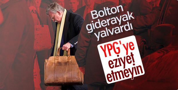 John Bolton, YPG'ye eziyet edilmemesini istedi