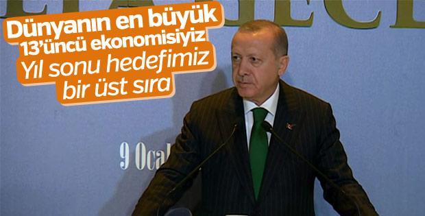 Erdoğan: Türkiye dünyanın en büyük 13'üncü ülkesi
