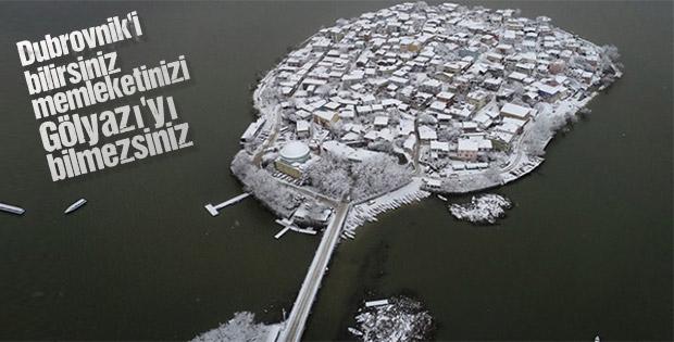 Gölyazı yazın başka kışın bir başka güzel