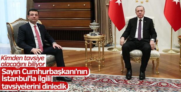 Cumhurbaşkanı Erdoğan ve İmamoğlu Beştepe'de