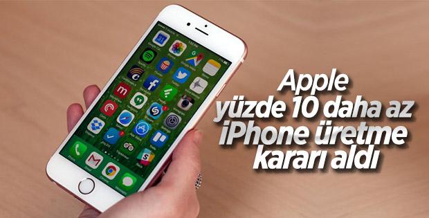 Apple, daha az iPhone üretme kararı aldı
