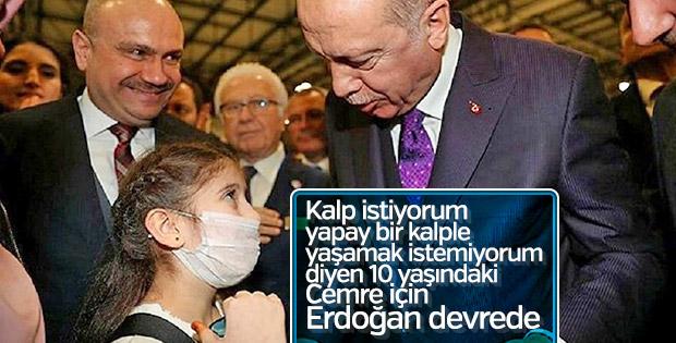 Cumhurbaşkanı Erdoğan'dan 'kalp' istedi