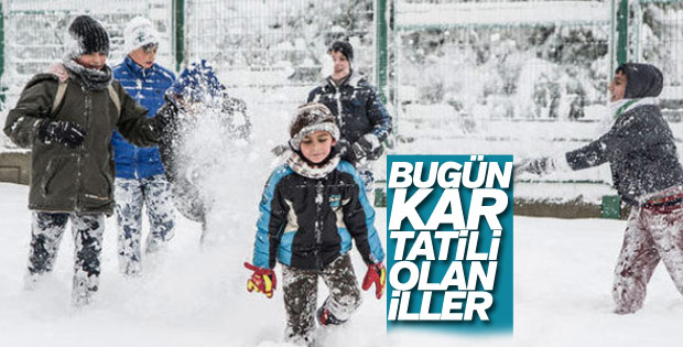 10 Ocak Perşembe günü kar tatili olan iller