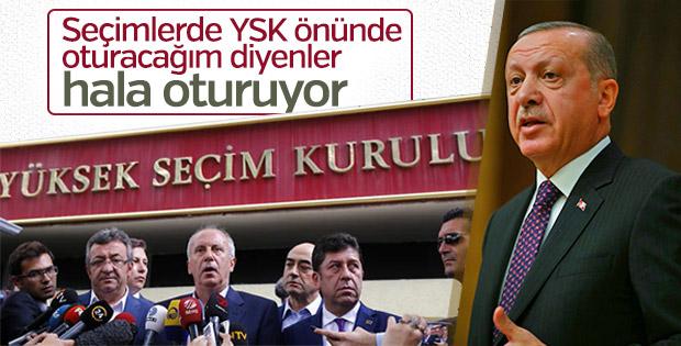 Erdoğan'dan, Muharrem İnce'ye: Hala oturuyorsun