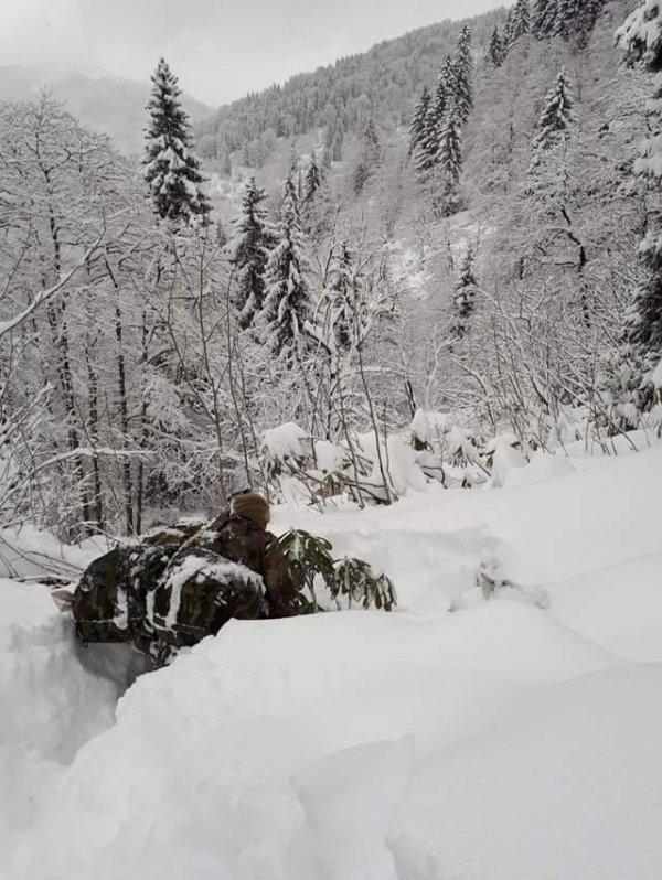 Doğu Karadeniz'de -10 derecede terör operasyonu