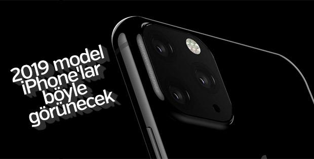 2019'da çıkacak iPhone'lar böyle görünecek