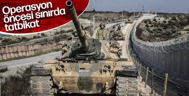 Tanklar, sınırda eğitim yaptı