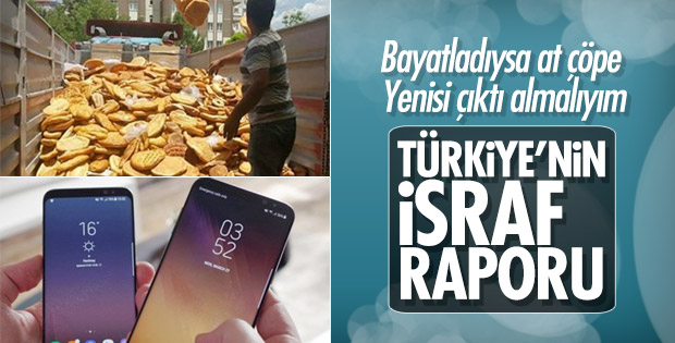 Türkiye'nin 2018 israf raporu