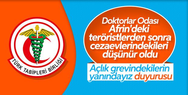 TTB açlık grevindekiler için bildiri yayınladı