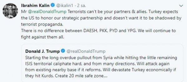İbrahim Kalın'dan Trump'ın tehdidine cevap geldi