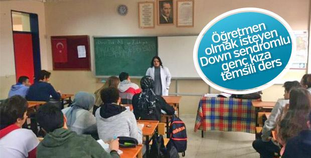 Down sendromlu Aynur'un öğretmenlik hayali gerçek oldu