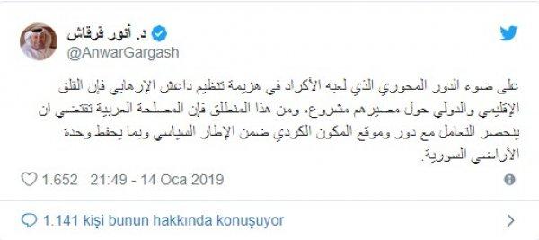 BAE, YPG'lilerin güvenliğinden endişe duyuyor