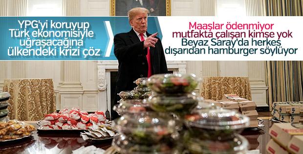 Trump, Beyaz Saray'a hamburger sipariş etti