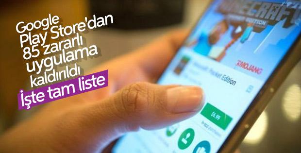 Google Play'den kaldırılan 85 zararlı uygulama