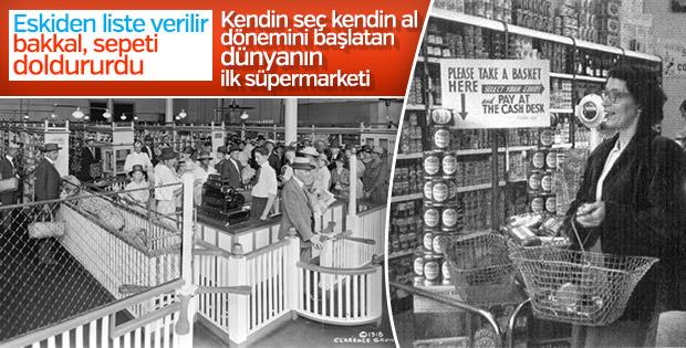 Dünyanın ilk modern süpermarketinde self servis devri