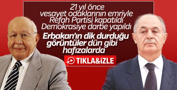 Refah Partisi'nin kapatılışından 21 yıl geçti