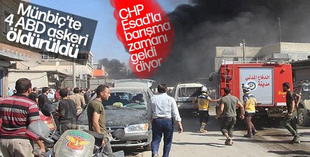 Münbiç saldırısının ardından CHP'den ABD'ye taziye