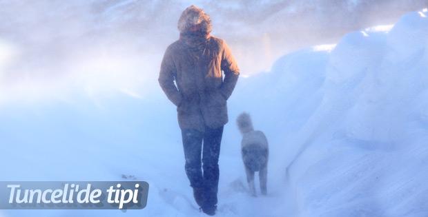 Kar ve tipi Tunceli'de hayatı olumsuz etkiliyor