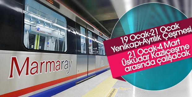Marmaray, deneme sürüşleri için kısmen kapalı olacak