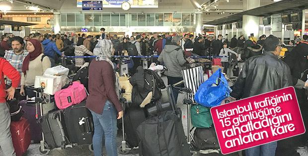 Havalimanlarında yarıyıl tatili yoğunluğu