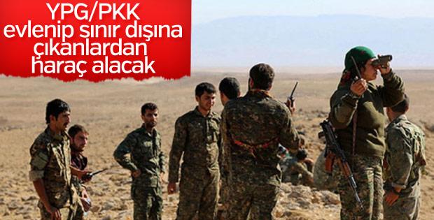 Terör örgütü YPG/PKK'dan evlilik haracı