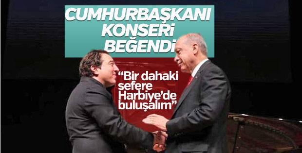 Erdoğan'dan Fazıl Say'a teşekkür