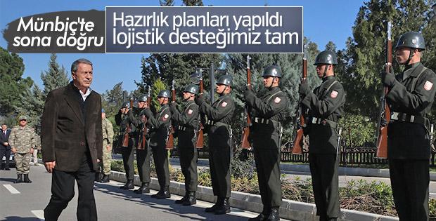Savunma Bakanı Hulusi Akar'dan Münbiç açıklaması