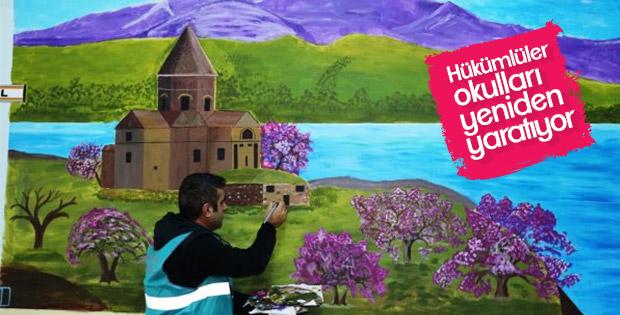 Eskişehir ve Van'da okullar hükümlülerle güzelleşiyor