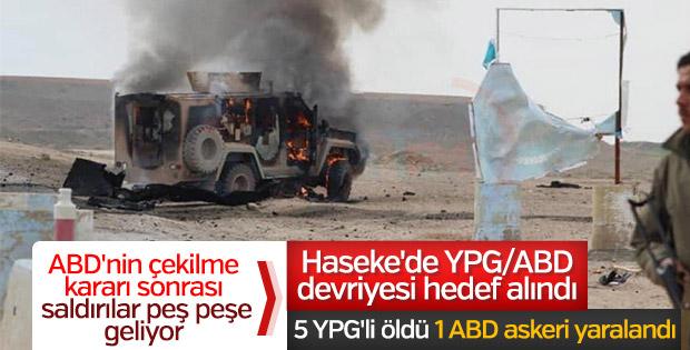 Suriye'de ABD/YPG ortak devriyesine saldırı