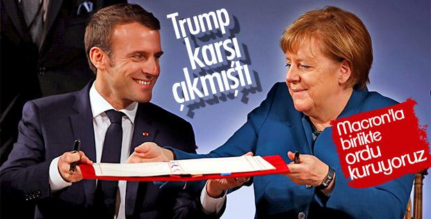 Merkel: Fransa ve Almanya ortak ordu kuracak