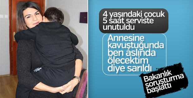 Samsun'da akılalmaz ihmalkarlık: Çocuğu serviste unuttular