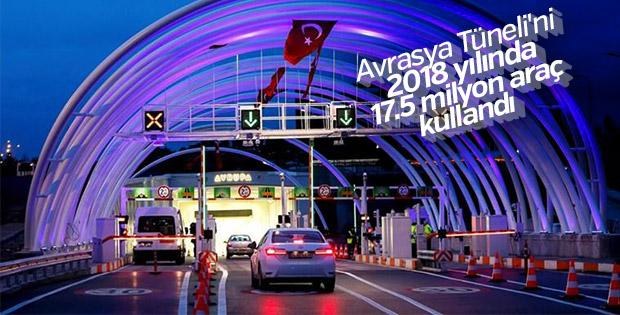 Avrasya Tüneli'nden 2018 yılında 17.5 milyon araç geçti