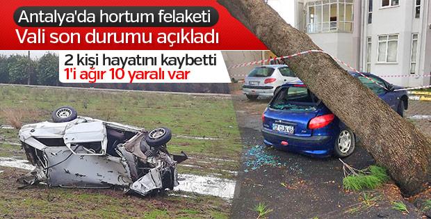 Antalya Valisi, hortum felaketiyle ilgili konuştu