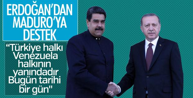 Erdoğan'dan Maduro'ya destek mesajı