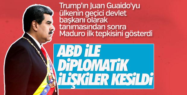 Maduro, ABD ile diplomatik ilişkileri kesti