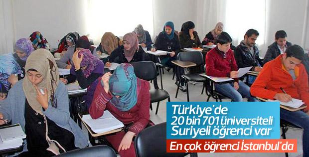 Türkiye'de 20 bin 701 Suriyeli öğrenci üniversite okuyor