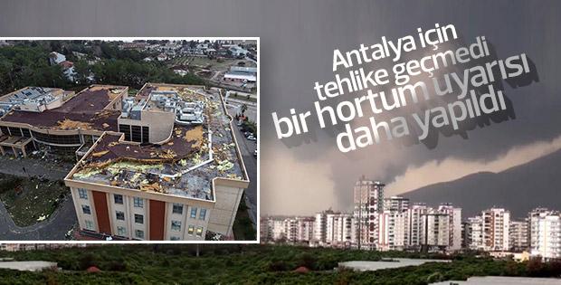 Antalya'ya yeni hortum uyarısı