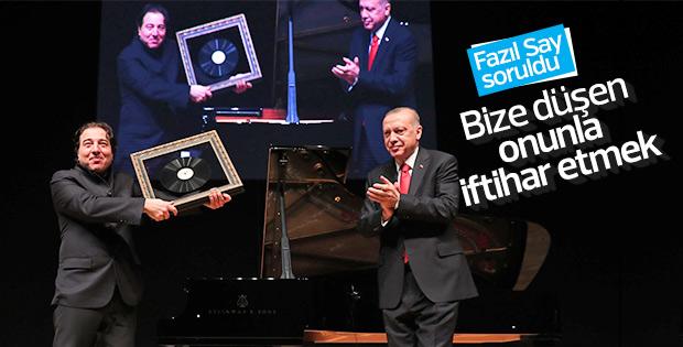 Cumhurbaşkanı Erdoğan'a Fazıl Say soruldu