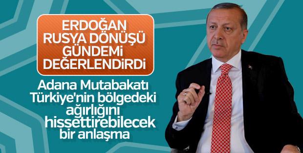 Erdoğan: Adana Mutabakatı önemli bir adımdı