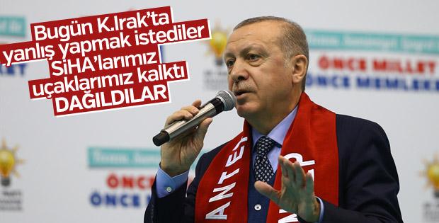 Cumhurbaşkanı Erdoğan'dan Kuzey Irak açıklaması