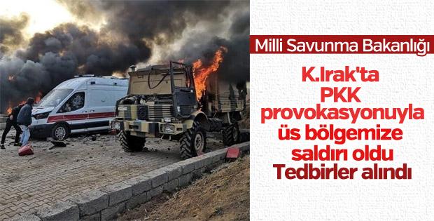 Kuzey Irak'ta üs bölgesine saldırı