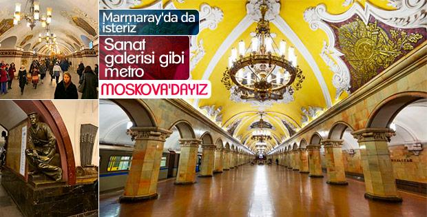 Yer altı müzesi Moskova Metrosu'na girdik