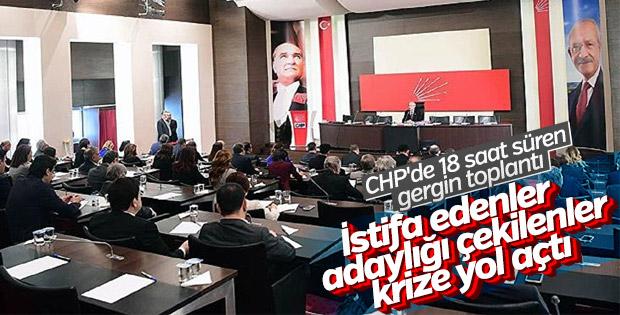 CHP'de olaylı PM toplantısı