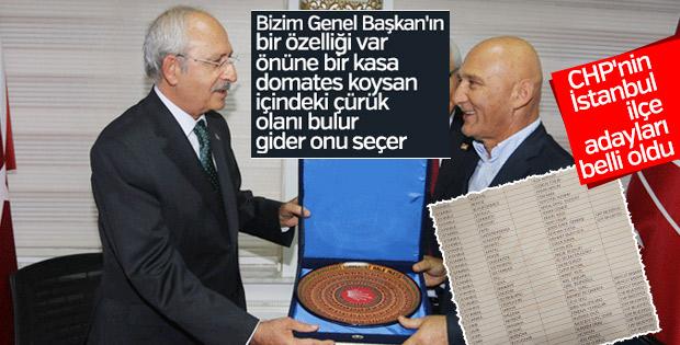 CHP'nin İstanbul ilçe adayları listesi