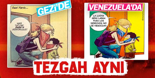 Gezi'de oynanan oyun Venezuela'da sahnede