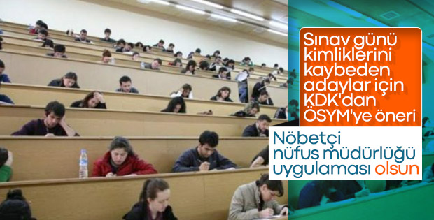 KDK'dan sınavlar için nöbetçi nüfus müdürlüğü kararı
