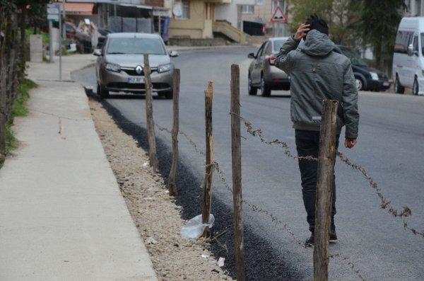 Ordulu vatandaş, kaldırımı yaya trafiğine kapattı
