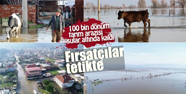 Aydın'da 100 bin dönüm tarım arazisi sular altında