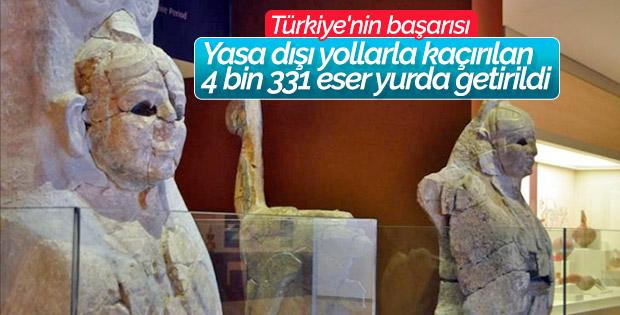 Türkiye 4 bin 331 eseri yurda getirtti